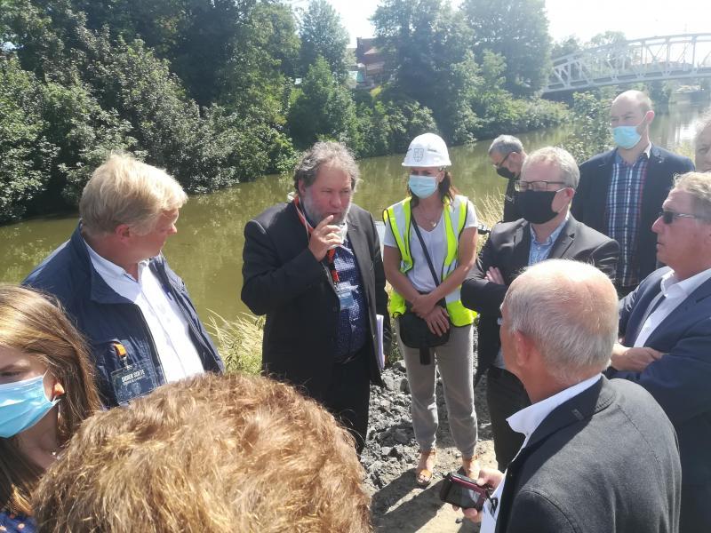 Prise de parole de Monsieur Philippe Mouton Echevin à la ville de Comines-Warneton lors de la venue de Monsieur le Ministre Philippe Henry pour la mobilité, le climat et les infrastructures.